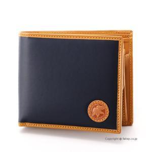 ハンティングワールド HUNTING WORLD 小銭入れ付き2つ折り財布 310-16A/BATTUE ORIGIN/NVY|trend-watch
