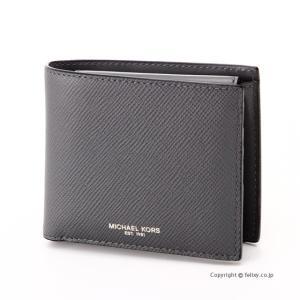 マイケルコース MICHAEL KORS メンズ財布 小銭入れ付き二つ折り財布 39F5LHRF3L/017 GREY|trend-watch