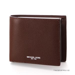 マイケルコース MICHAEL KORS メンズ財布 小銭入れ付き二つ折り財布 39F5LHRF3L/203 MOCHA trend-watch