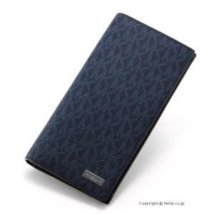 マイケルコース MICHAEL KORS メンズ財布 小銭入れ付き長財布 39F7MMNE8B/444 BALTIC BLUE|trend-watch