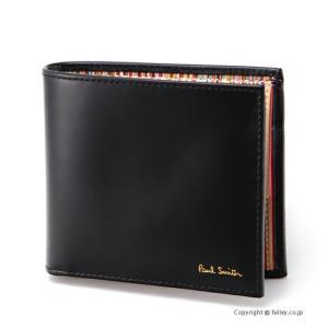 ポールスミス 2つ折り小銭入れ付き財布 Paul Smith M1A 4833 AMULTI/79 ブラック|trend-watch