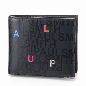 ポールスミス 2つ折り小銭入れ付き財布 Paul Smith M1A 4833 A40597 PRINTED|trend-watch