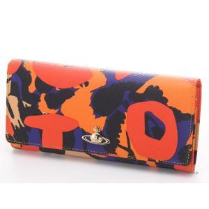 ヴィヴィアンウエストウッド 財布 32746 LOGOMANIA ORANGE Vivienne Westwood 小銭入れ付き長財布 ヴィヴィアン 財布|trend-watch