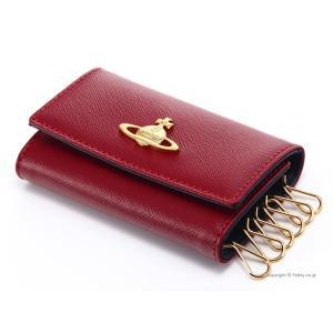 ヴィヴィアンウエストウッド キーケース Vivienne Westwood 0720V SAFFIANO RED 6連キーケース|trend-watch