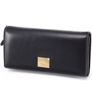 ヴィヴィアンウエストウッド 財布 Vivienne Westwood 1032V BROMPTON NERO 27 小銭入れ付き長財布|trend-watch