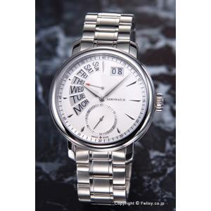 アエロウォッチ 腕時計 メンズ Renaissance Retrograde (ルネッサンス レトログラード) ホワイトシルバー A46941AA01M|trend-watch