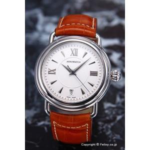 アエロウォッチ 腕時計 メンズ Collection1942 Gent Automatic (コレクション1942 オートマチック) シルバー A60900AA06|trend-watch