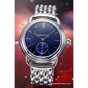 AEROWATCH アエロウォッチ 腕時計 メンズ 1942 ムーンフェーズ サンブラッシュ ブルー A74969AA03M|trend-watch
