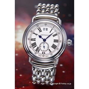 AEROWATCH アエロウォッチ 腕時計 メンズ コレクション1942 ホワイトシルバー A41900AA01M|trend-watch