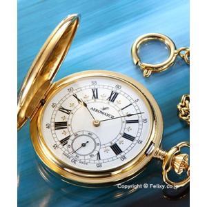 アエロウォッチ 懐中時計 AEROWATCH 55629J501 手巻き ゴールド/ホワイト|trend-watch