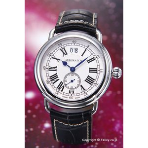 AEROWATCH アエロウォッチ 腕時計 メンズ コレクション1942 シルバー A41900AA01|trend-watch