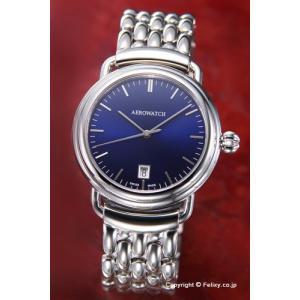 AEROWATCH アエロウォッチ 腕時計 メンズ A42900AA16M 1942-Elegance (エレガンス) デイト ラッカードブルー|trend-watch