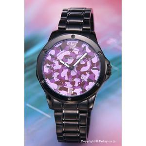 オレオール AUREOLE 腕時計 S.P.F.W Collection パープルカモフラージュ SW-571M-6|trend-watch