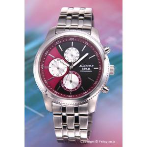 オレオール AUREOLE 腕時計 S.P.F.W Collection クロノグラフ パープル SW-575M-7|trend-watch