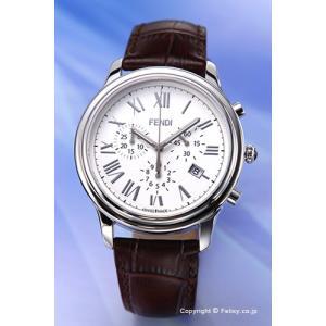 フェンディ FENDI 腕時計 New Classico Chrono ホワイト×ダークブラウン F253014021 trend-watch