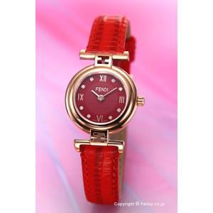 フェンディ FENDI 腕時計 Moda レッド×ローズゴールド レディース F275277BD|trend-watch