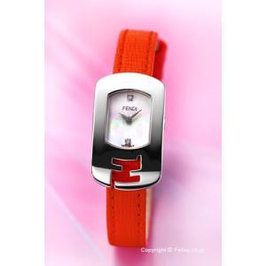 フェンディ FENDI 腕時計 Chameleon Collection ホワイトパール×オレンジレッド レディース F300024574D1|trend-watch