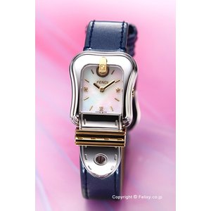 フェンディ FENDI 腕時計 B.FENDI ホワイトパール×メタリックブルー レディース F380124531D1|trend-watch
