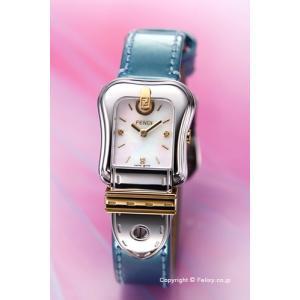 フェンディ FENDI 腕時計 B.FENDI ホワイトパール×メタリックライトブルー レディース F380124581D1|trend-watch