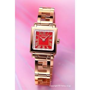 フェンディ FENDI 腕時計 Quadro Mini レッド×ローズゴールド レディース F605527200|trend-watch