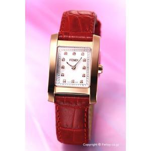 フェンディ FENDI 腕時計 Classico Square ホワイトパール(ローズゴールド)×レッド レディース F704247D|trend-watch