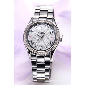 フルラ 時計 FURLA 腕時計 レディース Eva35(エヴァ35) ダイヤモンドダスト×シルバー R4253101515|trend-watch
