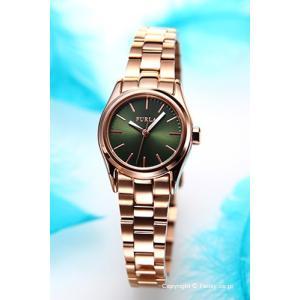 フルラ 時計 FURLA 腕時計 レディース Eva25(エヴァ25) グリーン×ローズゴールド R4253101506|trend-watch