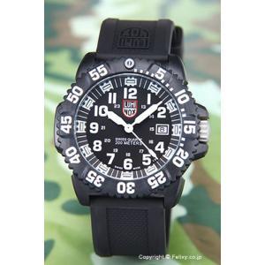 ルミノックス 腕時計 メンズ NAVY SEALs DIVE WATCH 3050 COLORMARK SERIES (ネービーシールズ) ブラック(ホワイト) 3051|trend-watch