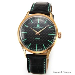B.H.WATCHES ビーエイチウォッチ 腕時計 メンズ W40RGBKTQ イタリア製ハンドメイド|trend-watch