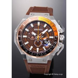 ブレラオロロジ 腕時計 メンズ BRERA OROLOGI グランツーリスモ ブラウン/ブラウンラバー BRGTC5402 trend-watch