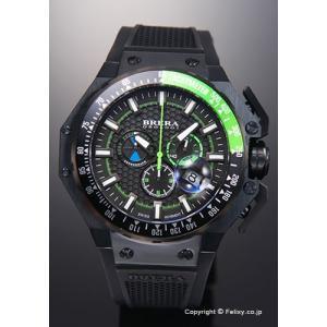 ブレラオロロジ 腕時計 メンズ BRERA OROLOGI グランツーリスモ オールブラック×グリーン BRGTC5403 trend-watch