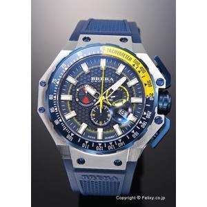 ブレラオロロジ 腕時計 メンズ BRERA OROLOGI グランツーリスモ ネイビー×イエロー/ネイビーラバー BRGTC5404 trend-watch