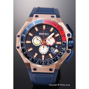 ブレラオロロジ 腕時計 メンズ BRERA OROLOGI グランツーリスモ ネイビー×レッド/ネイビーラバー BRGTC5405 trend-watch