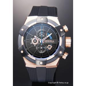 ブレラオロロジ 腕時計 メンズ BRERA OROLOGI スーパースポルティーボ ブラック×ローズゴールド BRSSC4902 trend-watch
