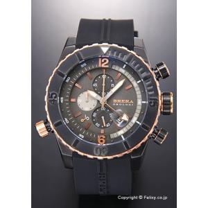 ブレラオロロジ 腕時計 メンズ BRERA OROLOGI Sottomarino Diver (ソットマリノ ダイバー) チャコールグレー×ローズゴールド BRDVC4704 trend-watch