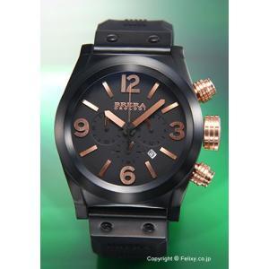 ブレラオロロジ 腕時計 メンズ BRERA OROLOGI エテルノ クロノ オールブラック×ローズゴールド BRETC4523 trend-watch