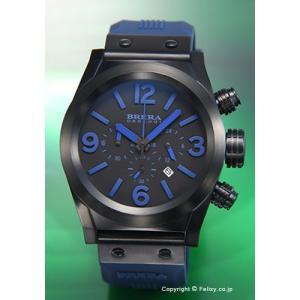 ブレラオロロジ 腕時計 メンズ BRERA OROLOGI エテルノ クロノ オールブラック×ネイビー/ネイビーラバー BRETC4565 trend-watch