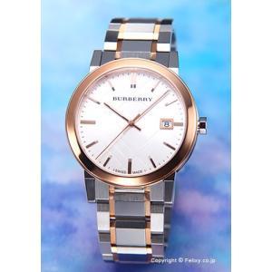 バーバリー 腕時計 メンズ The City (シティ) シルバー×ローズゴールドコンビ BU9006 trend-watch