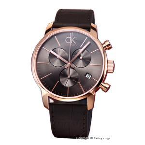 カルバンクライン 腕時計 メンズ K2G276G3 CK City クロノグラフ アンスラサイト×ピンクゴールド