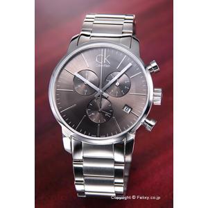 カルバンクライン 腕時計 メンズ K2G27143 CK City クロノグラフ アンスラサイト