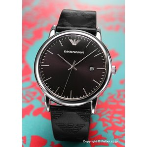 エンポリオアルマーニ EMPORIO ARMANI 腕時計 メンズ Luigi Slim Leather Bracelet Giftset ブラック AR80012|trend-watch