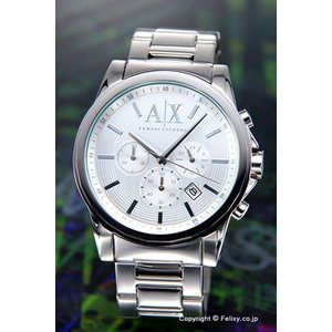アルマーニエクスチェンジ 時計 メンズ Armani Exchange アウターバンクス クロノグラフ シルバー AX2058|trend-watch