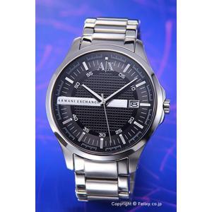 アルマーニエクスチェンジ 時計 メンズ Armani Exchange ホイットマン ラウンド ブラック×シルバー AX2103|trend-watch