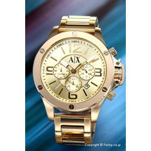 アルマーニエクスチェンジ 腕時計 メンズ Armani Exchange AX1504 ウェルウォーン クロノグラフ オールゴールド|trend-watch