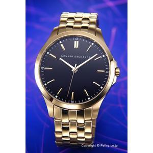 アルマーニ エクスチェンジ 腕時計 メンズ Armani Exchange AX2145 ハンプトンLP ブラック×ゴールド|trend-watch