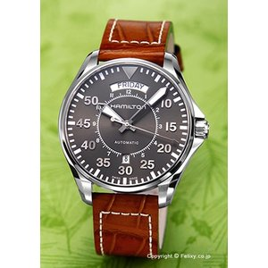 ハミルトン HAMILTON 腕時計 メンズ Khaki Pilot Day Date Auto H64615585|trend-watch