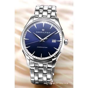ハミルトン HAMILTON 腕時計 Jazzmaster Gent ブルー H32451141|trend-watch
