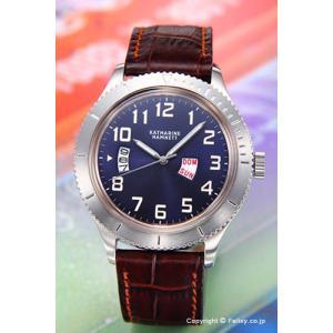 キャサリンハムネット 腕時計 メンズ レトロミリタリー ネイビー KH20E4-61