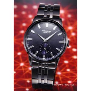 キャサリンハムネット 腕時計 メンズ CUTTING EDGE (カッティングエッジ) ブラックネイビー KH23F8-B64 trend-watch