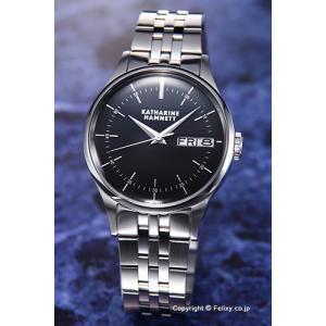 キャサリンハムネット 腕時計 メンズ KH20G5-B34 ENGLISH SLICK ブラック|trend-watch